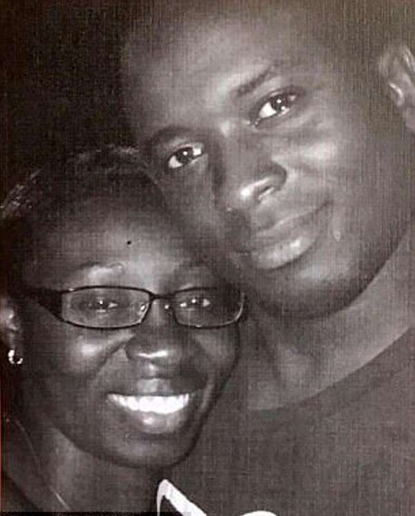 NYPD Officer Dalsh Veve, 35, with his wife,