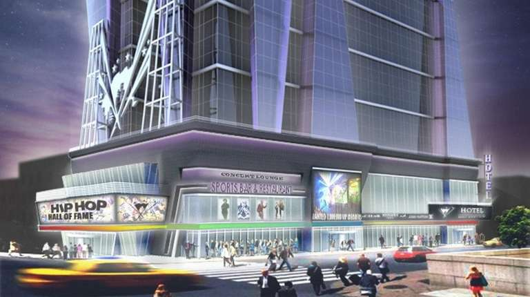 A rendering of the Hip Hop Hall of