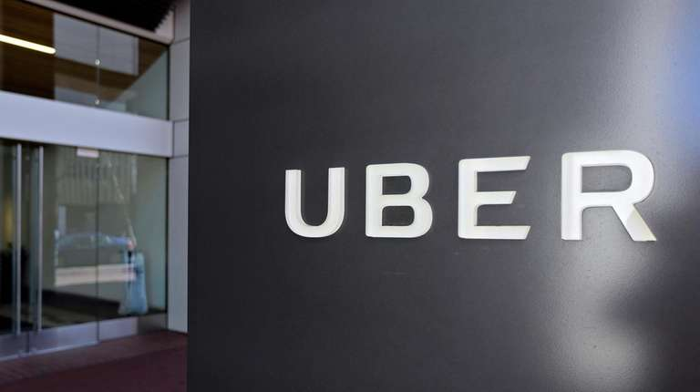 An exterior view of the Uber headquarters in