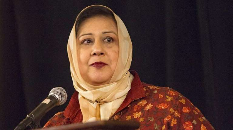 Dr. Isma Chaudhry, president of the Islamic Center