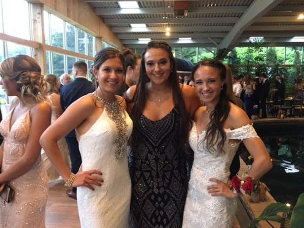 From left, the Shine triplets, Kristen, Nicole and