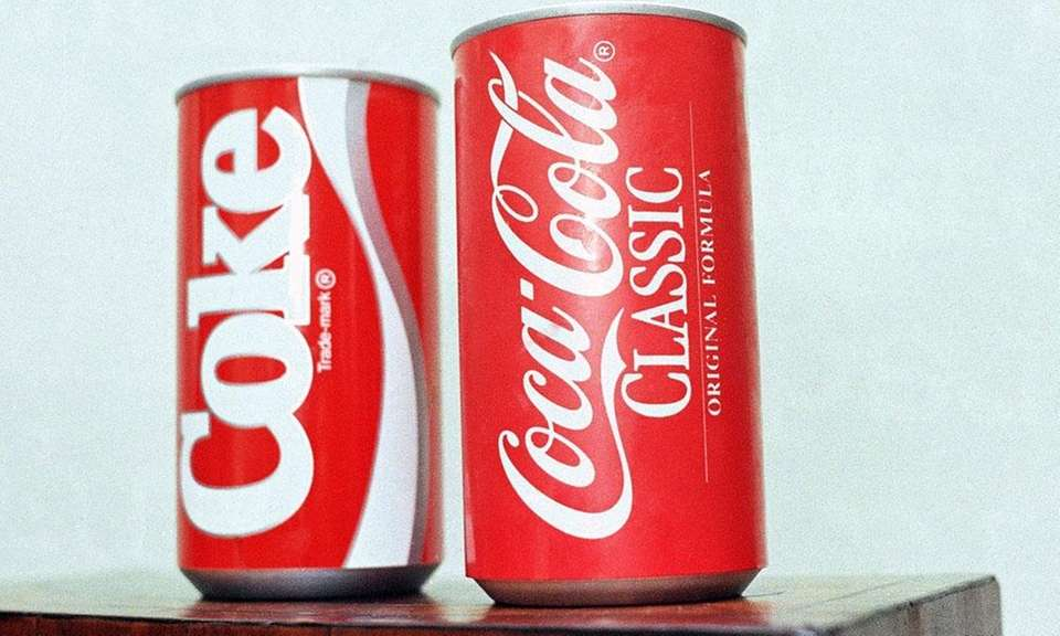 In 1985, Coke changed the formula of its