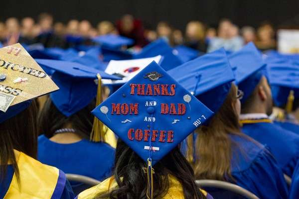 A Hofstra University graduate thanks her mom and