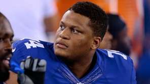 Giants offensive lineman Ereck Flowers against the Miami