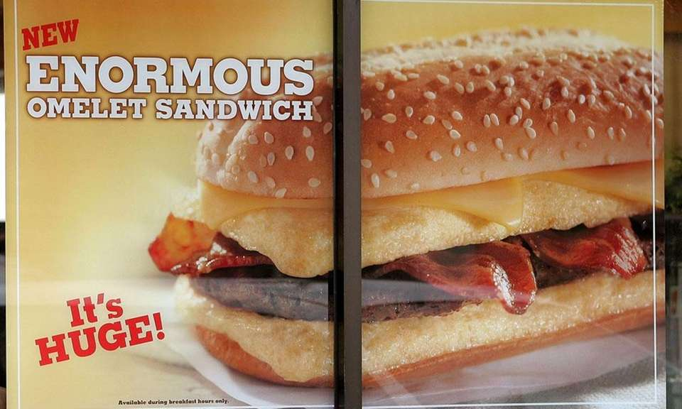 Burger King introduced the Enormous Omelet Sandwich in