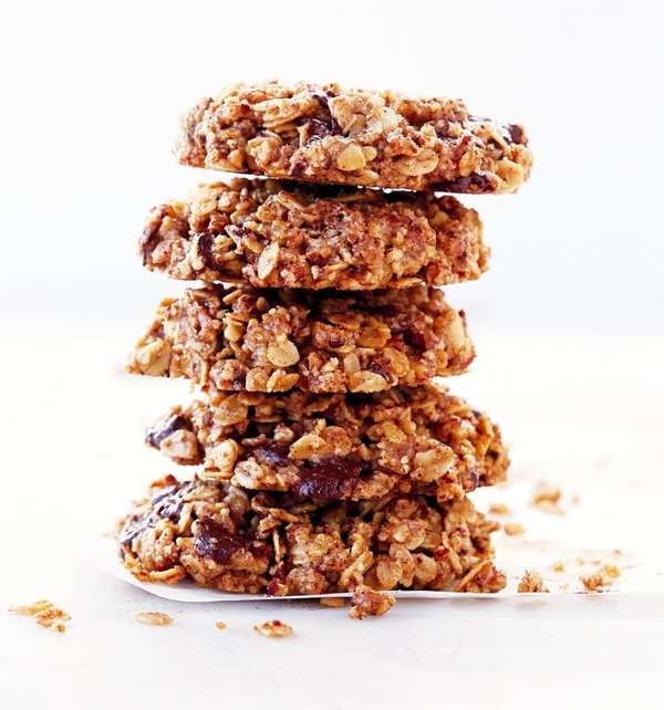 Ground pecans, olive oil and maple syrup replace