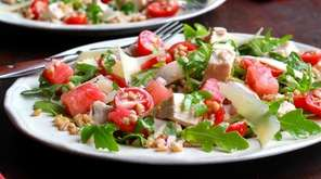 This hearty main dish salad is made with