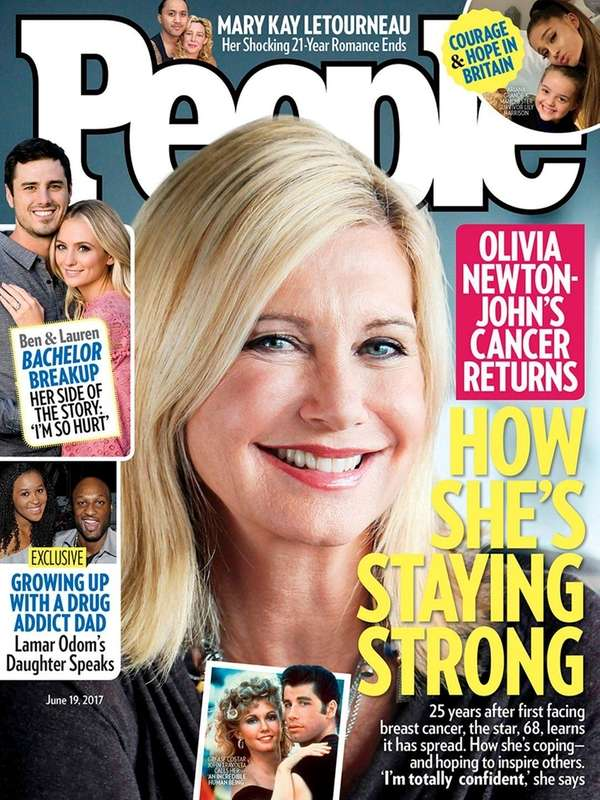 Olivia Newton-John tells People magazine that she believes