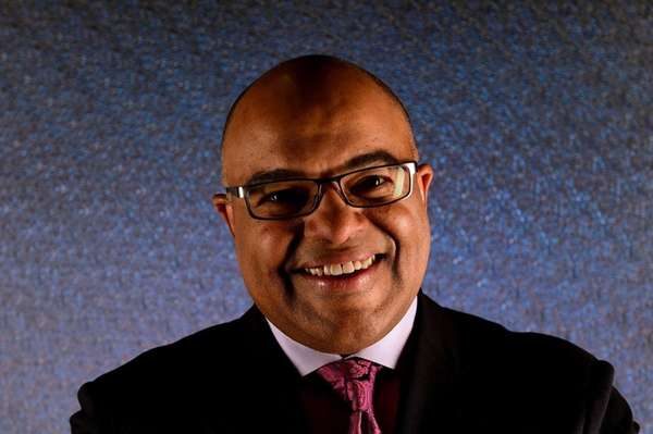 Sportscaster Mike Tirico poses for a portrait during