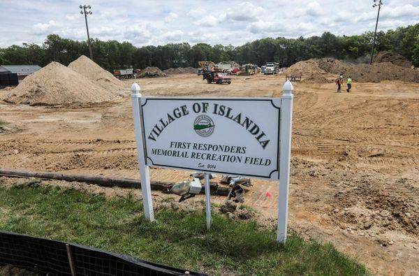 The First Responders Memorial Recreation Field is dedicated