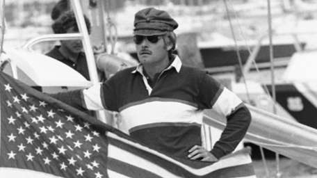 Ted Turner, skipper of the 12-meter yacht Courageous,