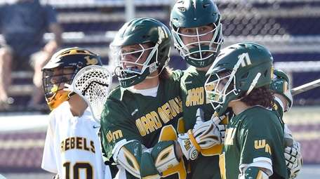 Ward Melville's Andrew Lockhart (41) second from left