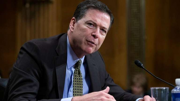 Former FBI Director James Comey, seen here on