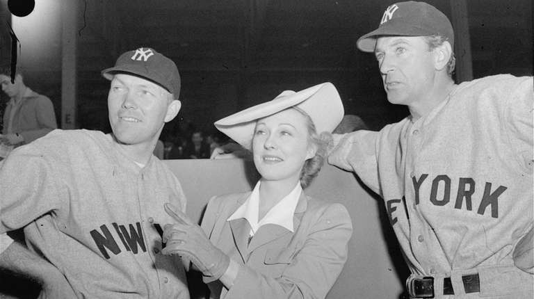 Yankees' Bill Dickey, left, his wife, Violet, and