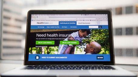 The HealthCare.gov website on Thursday, Feb. 9, 2017.