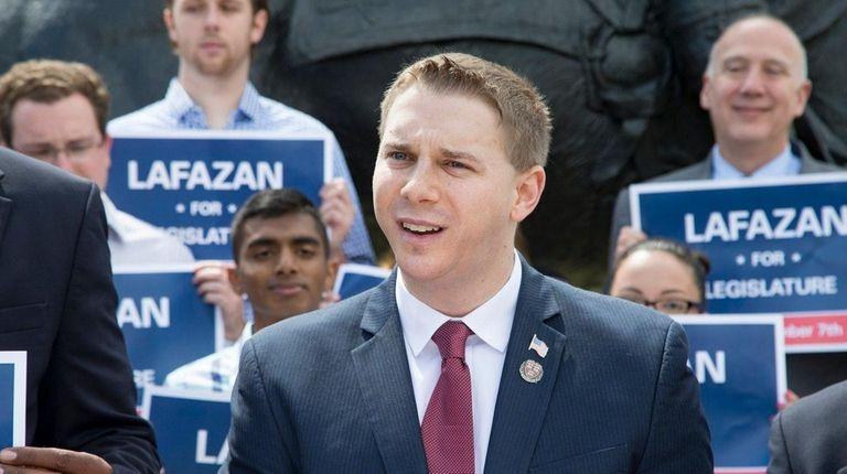 Nassau County Legislative candidate Joshua Lafazan kicks off