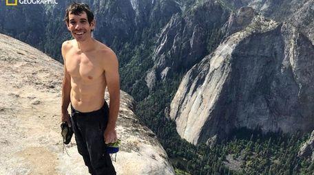 Alex Honnold atop El Capitan in Yosemite National