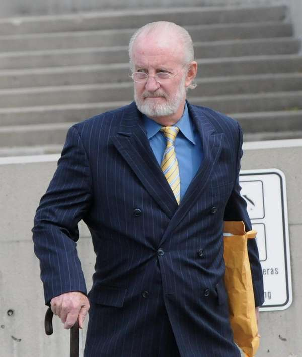 Jay Lockett Sears outside federal court in Central
