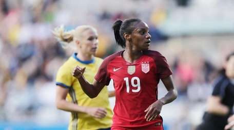 Crystal Dunn of USA during the international friendly