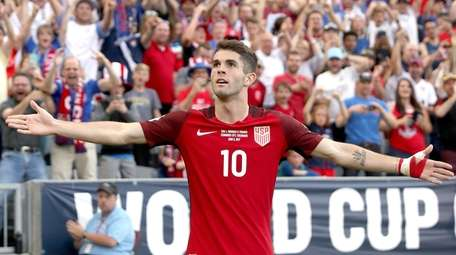 Christian Pulisic #10 of the U.S. National Team