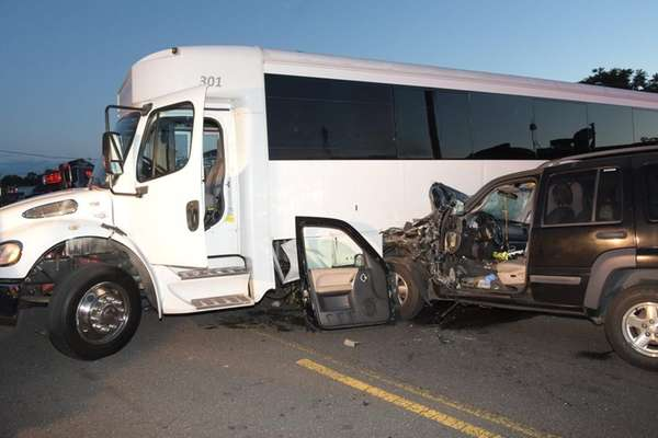 Both drivers suffered minor injuries when a sport