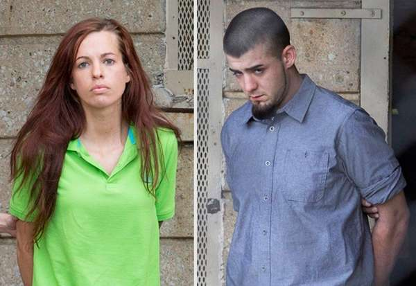 Joelle Sessions, 28, left, and Nicholas Rom, 21,