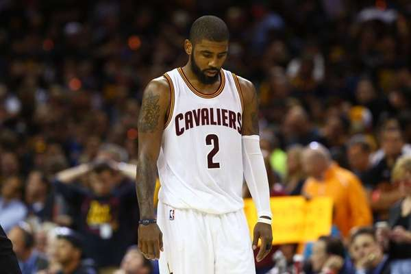 Kyrie Irving #2 of the Cleveland Cavaliers looks