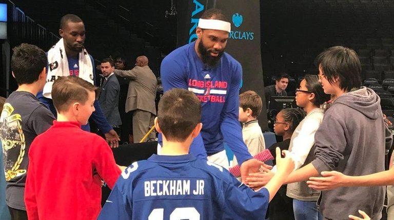 Long Island Nets player J.J. Moore, who is