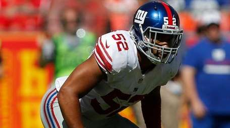 New York Giants outside linebacker Spencer Paysinger (52)