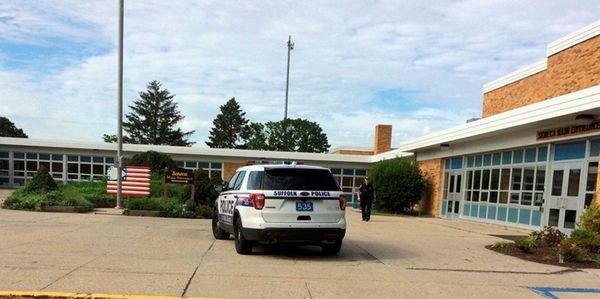 Seneca Middle School in Holbrook went on lockdown
