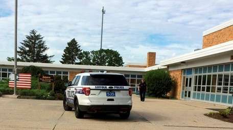 Seneca Middle School in Holbrook went on lockdown