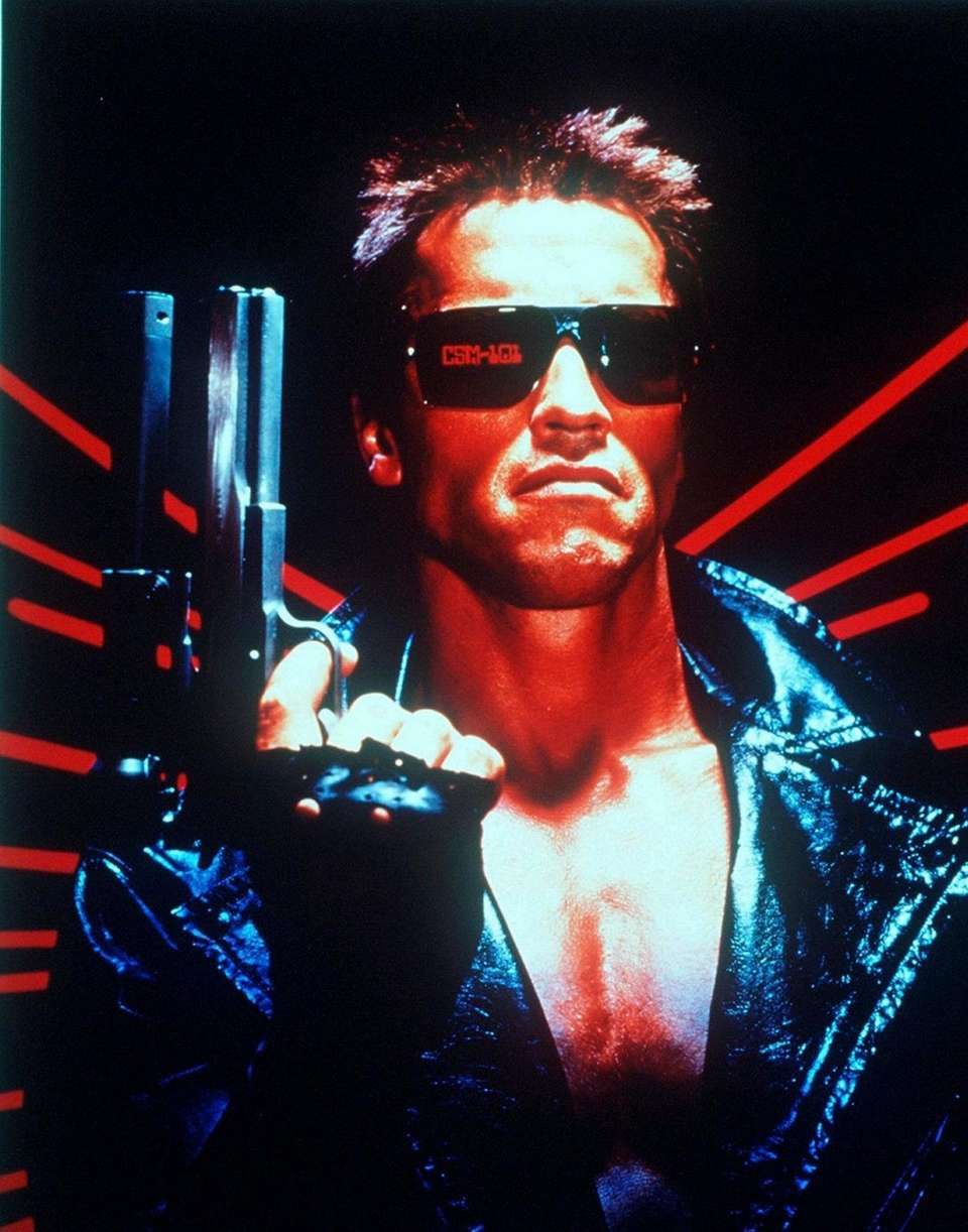 "Arnold Schwarzenegger in ""The Terminator"", 1984."