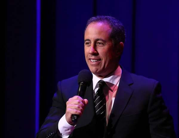 Jerry Seinfeld performs on stage at the Kennedy