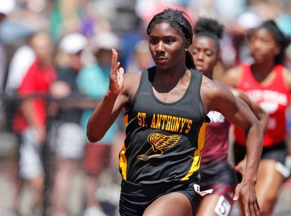 Halle Hazzard of St. Anthony's competes in the