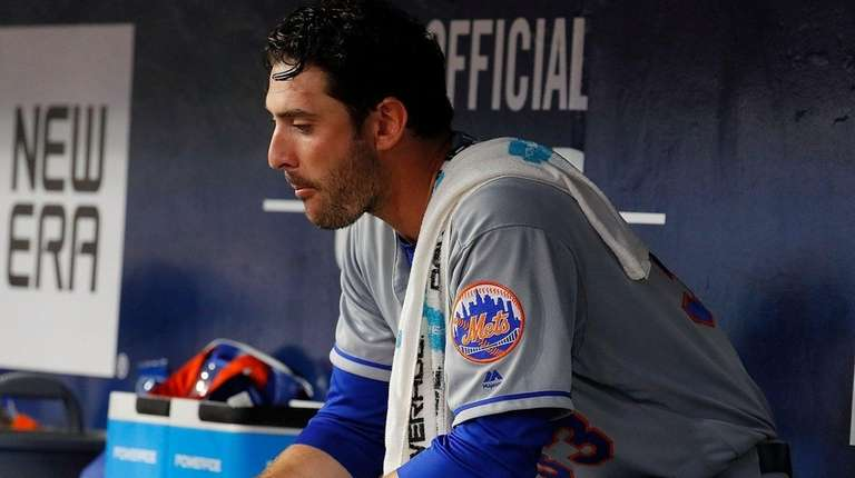 Matt Harvey came out of the game with