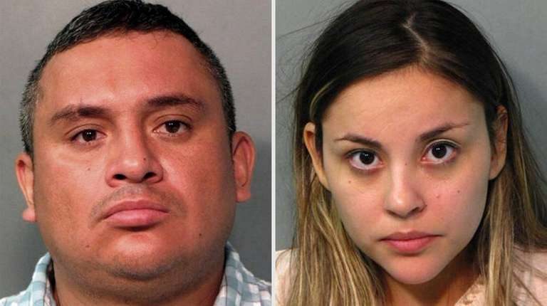 Nestor Zambrano, 38, left, and Melissa Sanchez, 28,