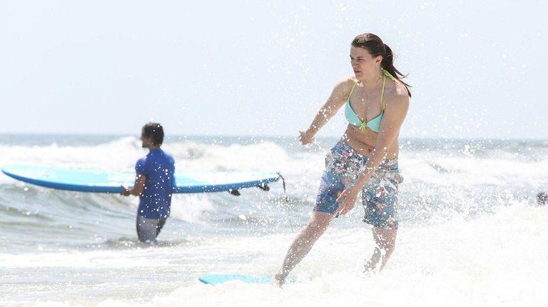 Michelle Camarco of Long Beach, 25, rides a
