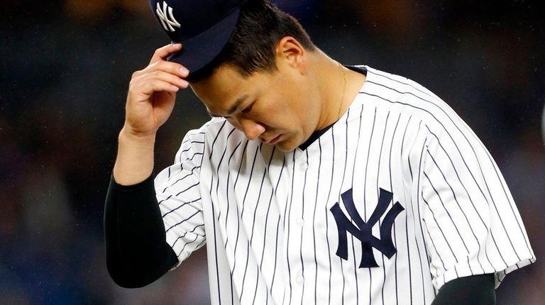 Masahiro Tanaka #19 of the New York Yankees
