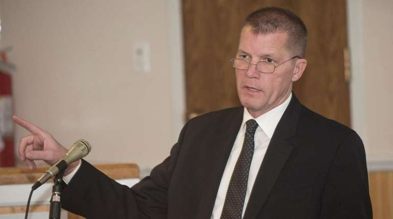 Southold Town Supervisior Scott Russell is shown in