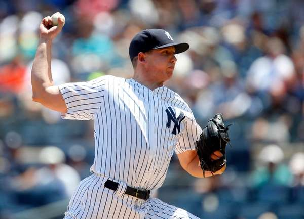 Chad Green #57 of the New York Yankees