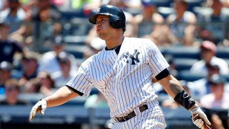 Gary Sanchez #24 of the New York Yankees