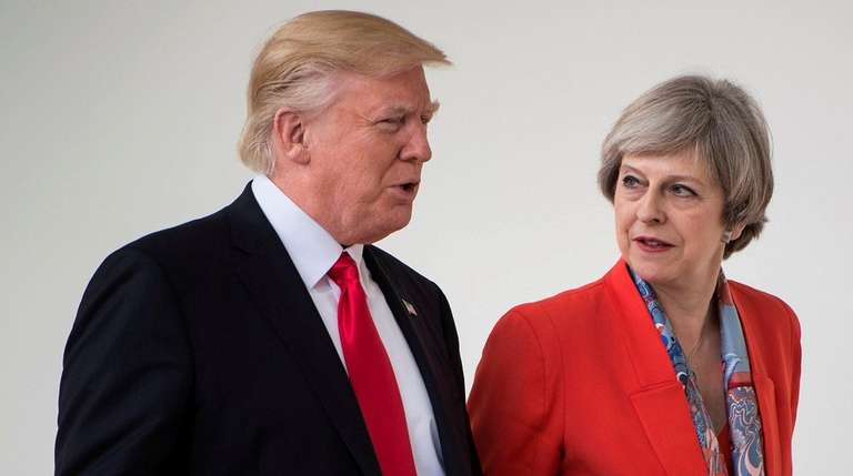 President Donald Trump and British Prime Minister Theresa