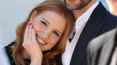 Actress Jessica Chastain with boyfriend Gian Luca Passi