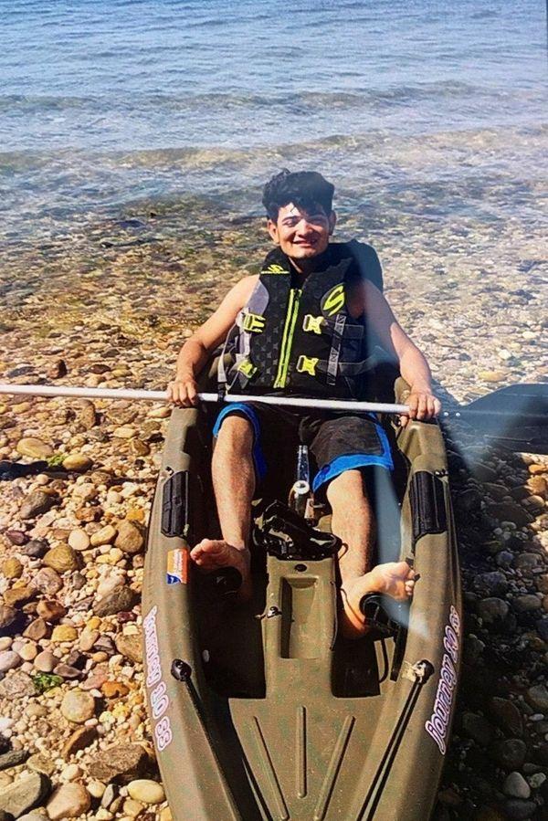 Missing kayaker Selvin Vasquez-Enamorado.