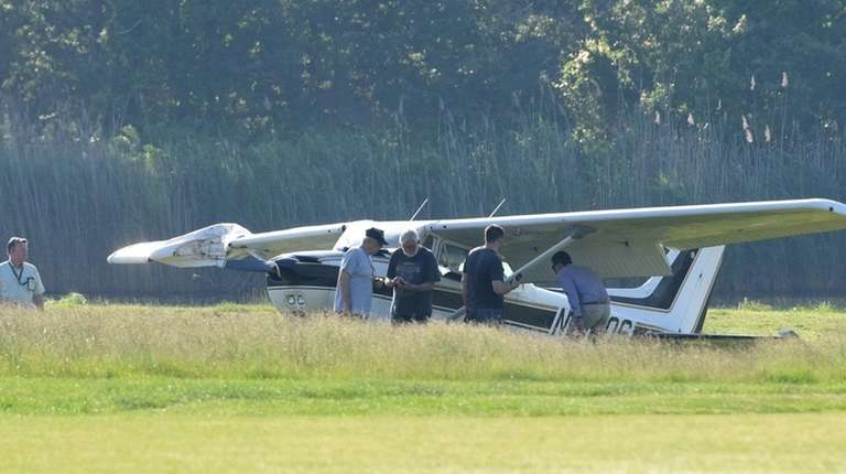 A single-engine Cessna made an emergency landing on