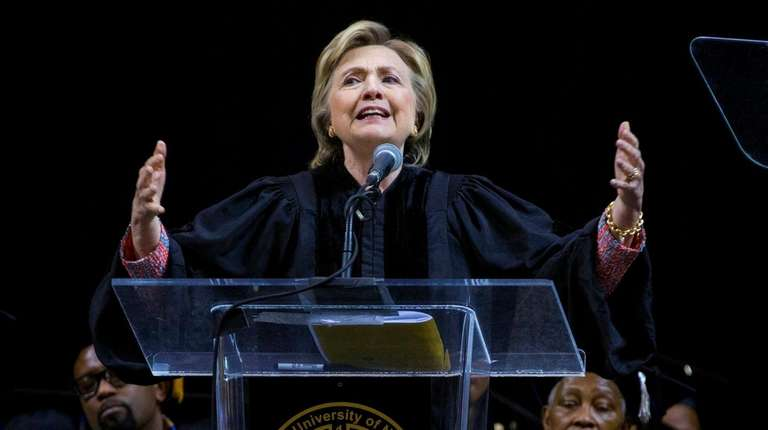 Former Secretary of State Hillary Clinton delivers her