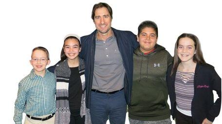 Actor Luke Wilson with Kidsday reporters Sean Bellia,