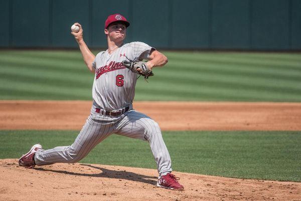 South Carolina pitcher Clarke Schmidt delivers during a