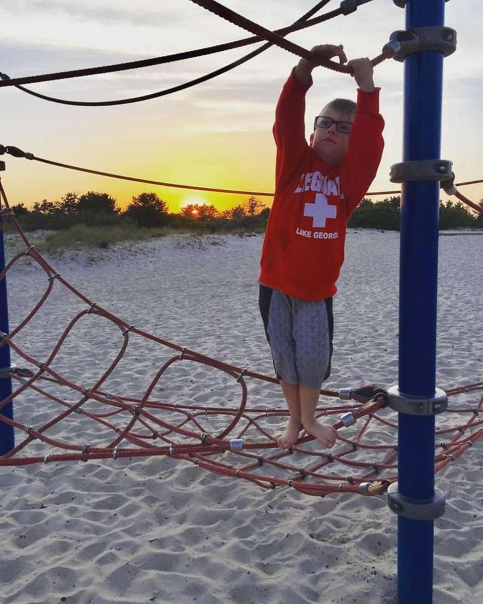 Timmy Broderick, 7, Hanging out at Cedar Beach