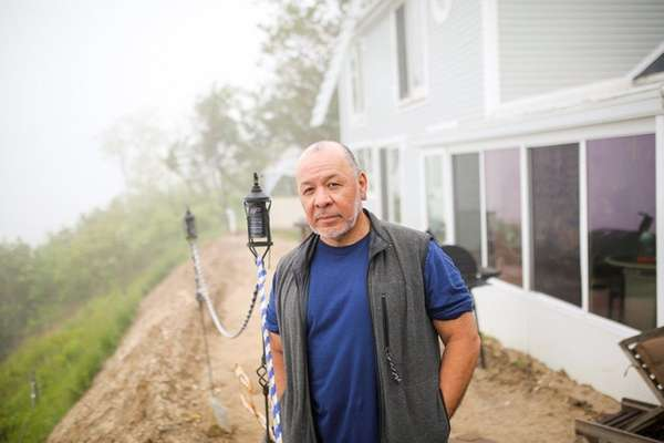 Fred Tovar at his Sound Beach home, which